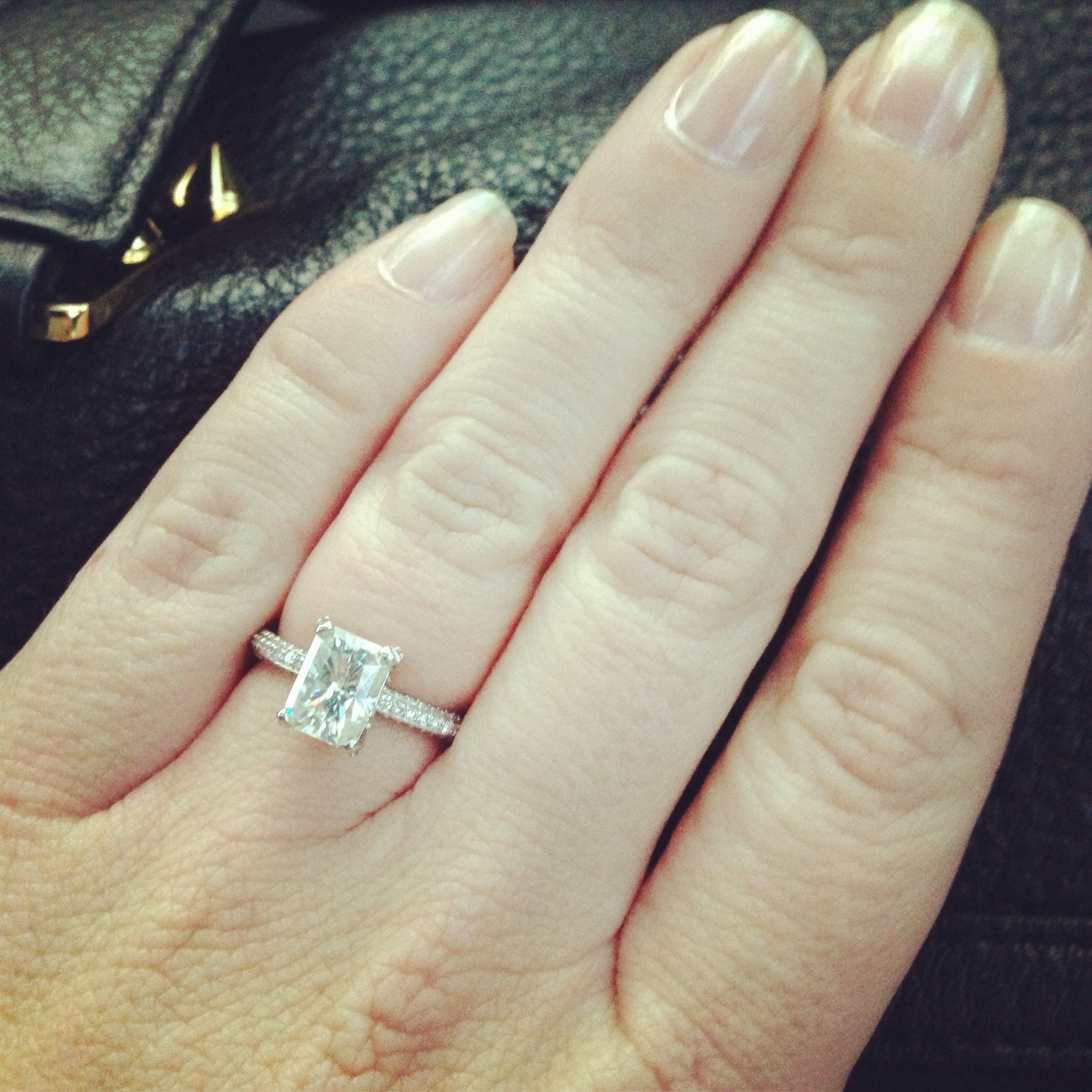 Radiant cut engagement ring #perfection