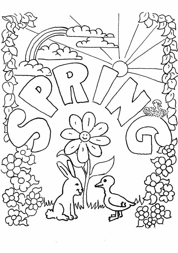 Spring Coloring Pages | Colorear