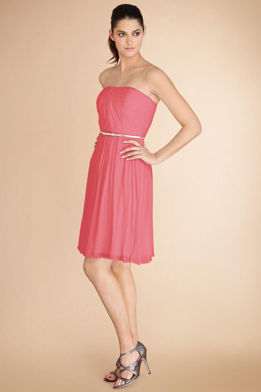 DonnaMorgan Donna #Bridesmaids dress in Pink Coral | DH & PC Wedding ...