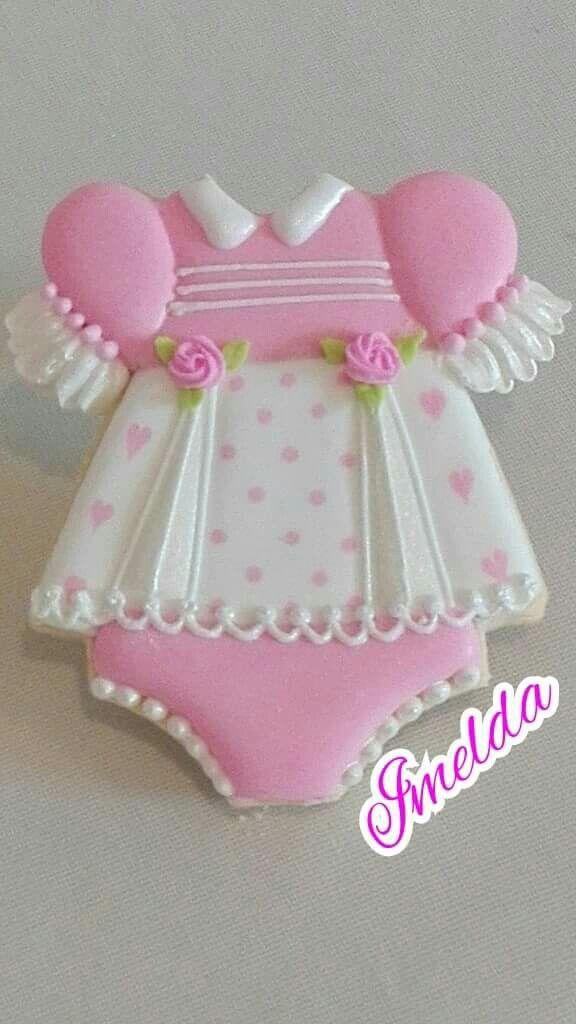 807f69d26 Baby Dress Cookie | Decorated Cookies | Baby cookies, Onesie cookies ...