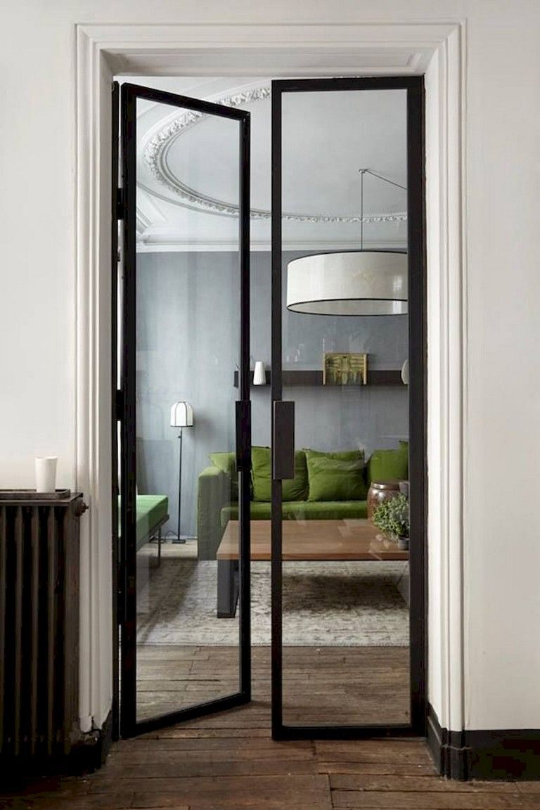 Looking for french glass door ideas? This black modern glass