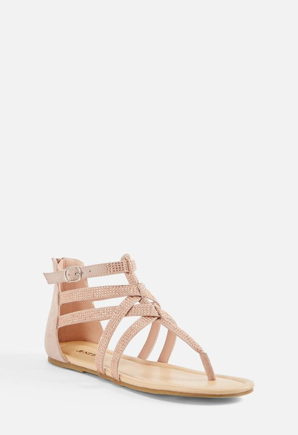 4ee35a28c7f Kaveena Embellished Sandal in Blush - Get great deals at JustFab ...