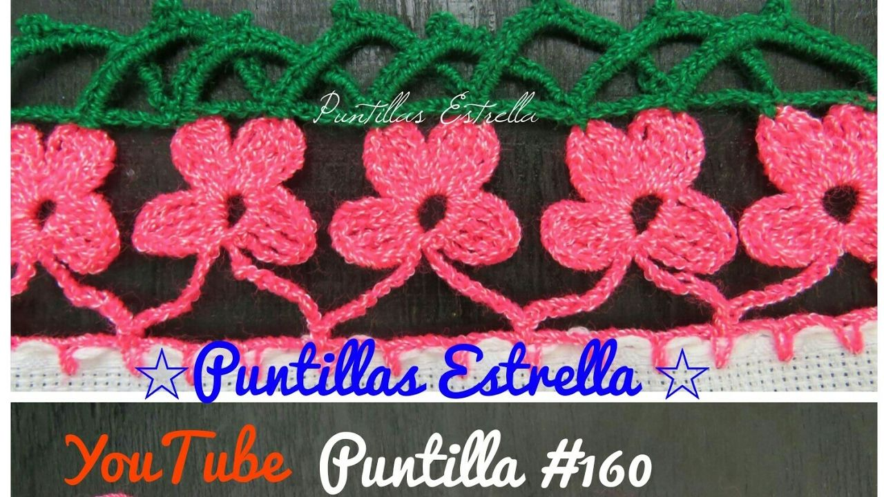 70e05ad80 Puntilla #160 | orillas tejidas | Ganchillo, Bordado y Tejidos a crochet