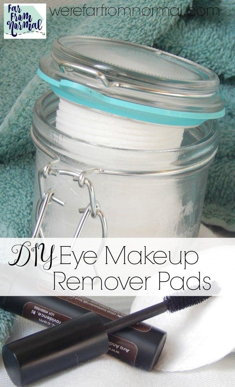 DIY Eye Makeup Remover Pads Natural eye makeup remover