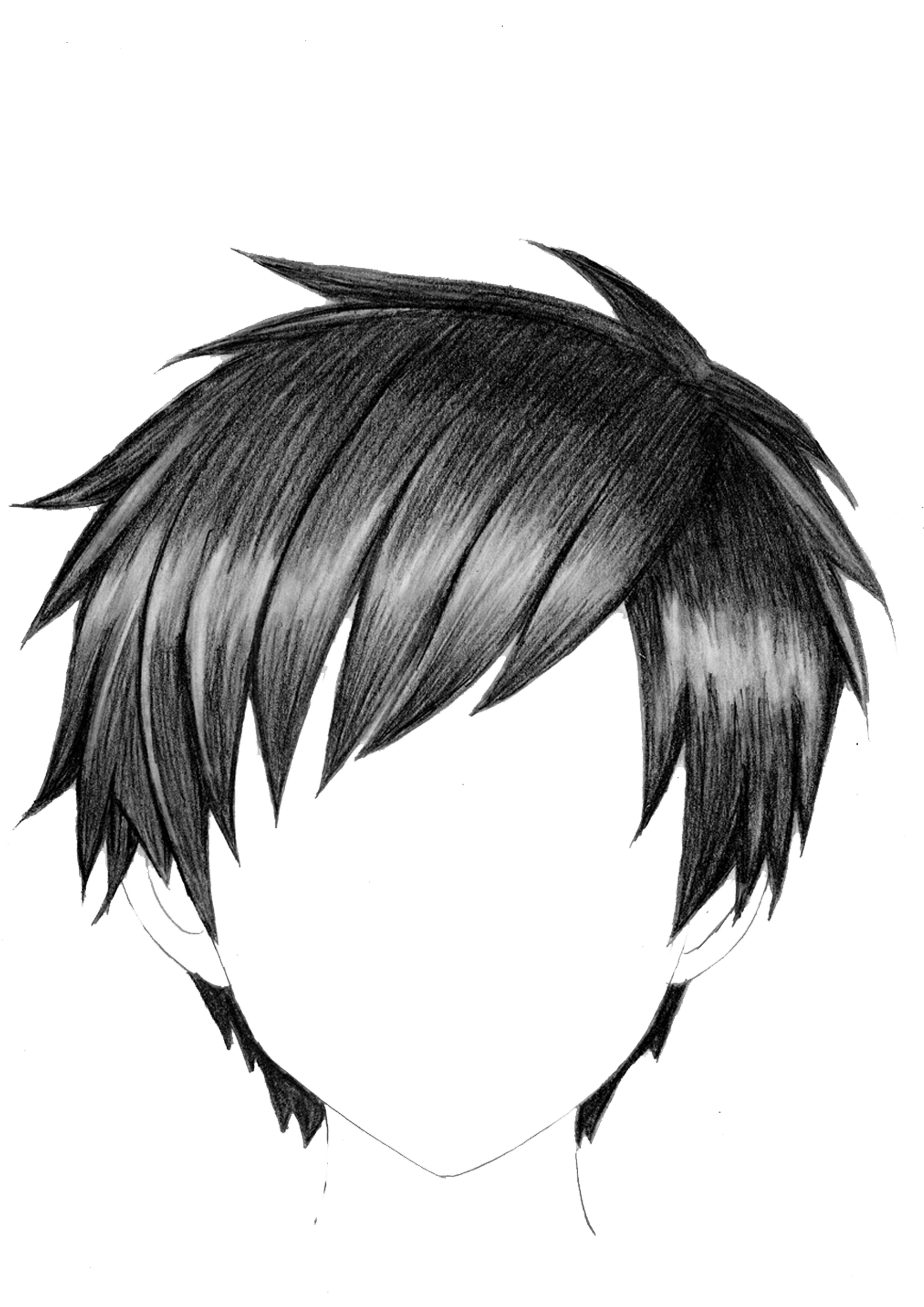 How To Draw Anime Boy Hair Draw Realistic Anime Hair in