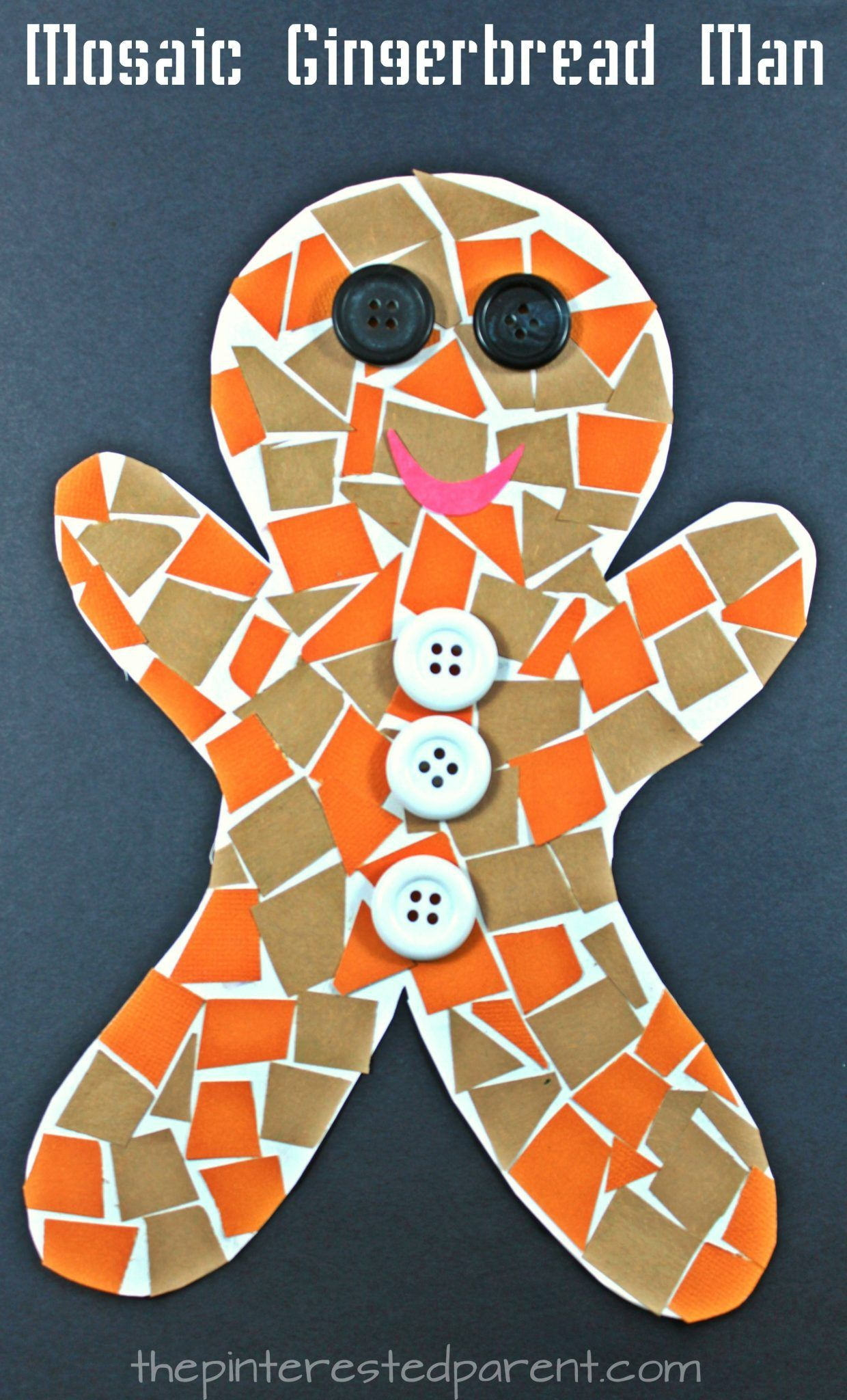 gingerbread craft ideas construction paper gingerbread mosaic the 2082