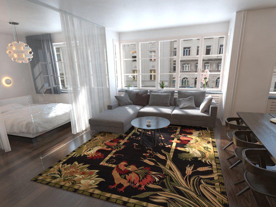 Andersonville black green area rug in 2019 design ideas - Oakland community college interior design ...