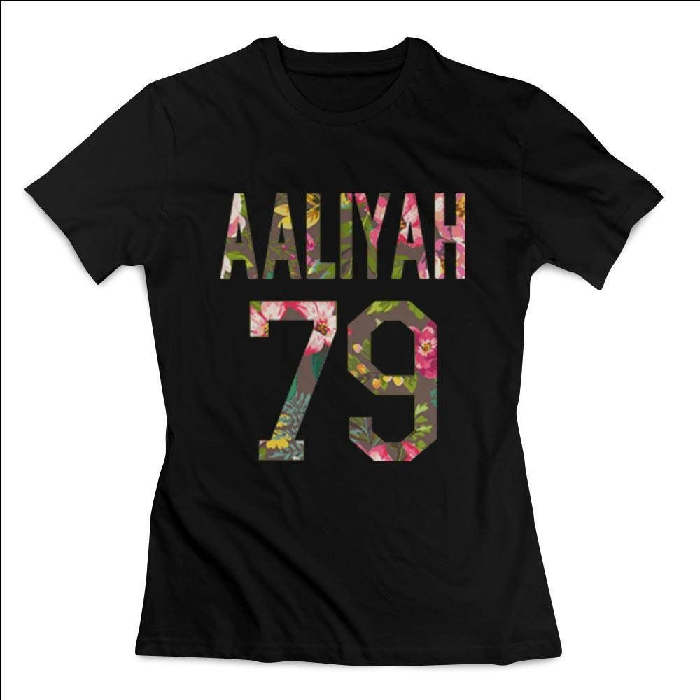 Aaliyah 79 Logo Retro Flower Actress Clothing T shirt Women