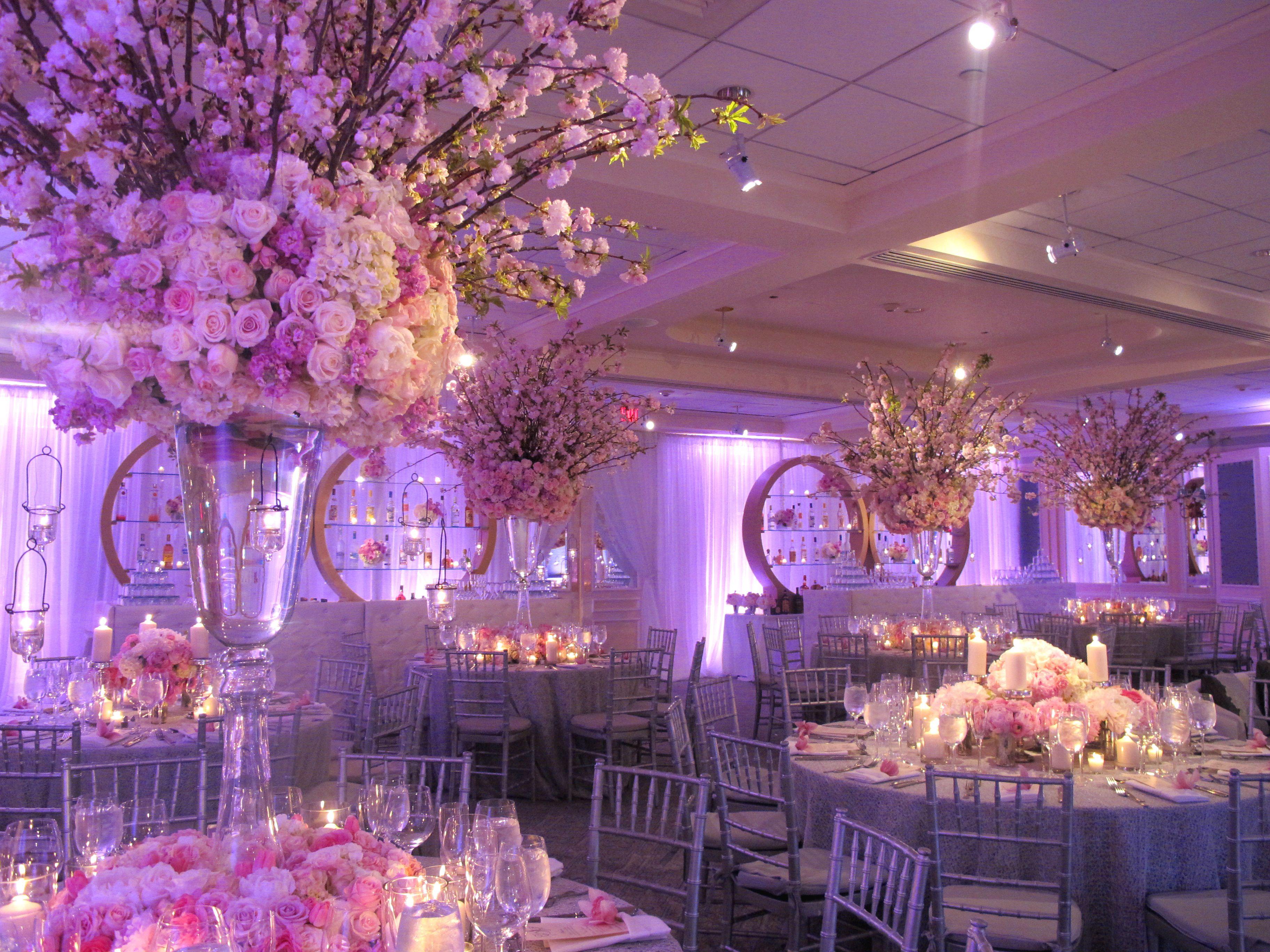 Wedding decoration ideas purple  The tall centerpiece design  Bodas  Pinterest  Centerpieces
