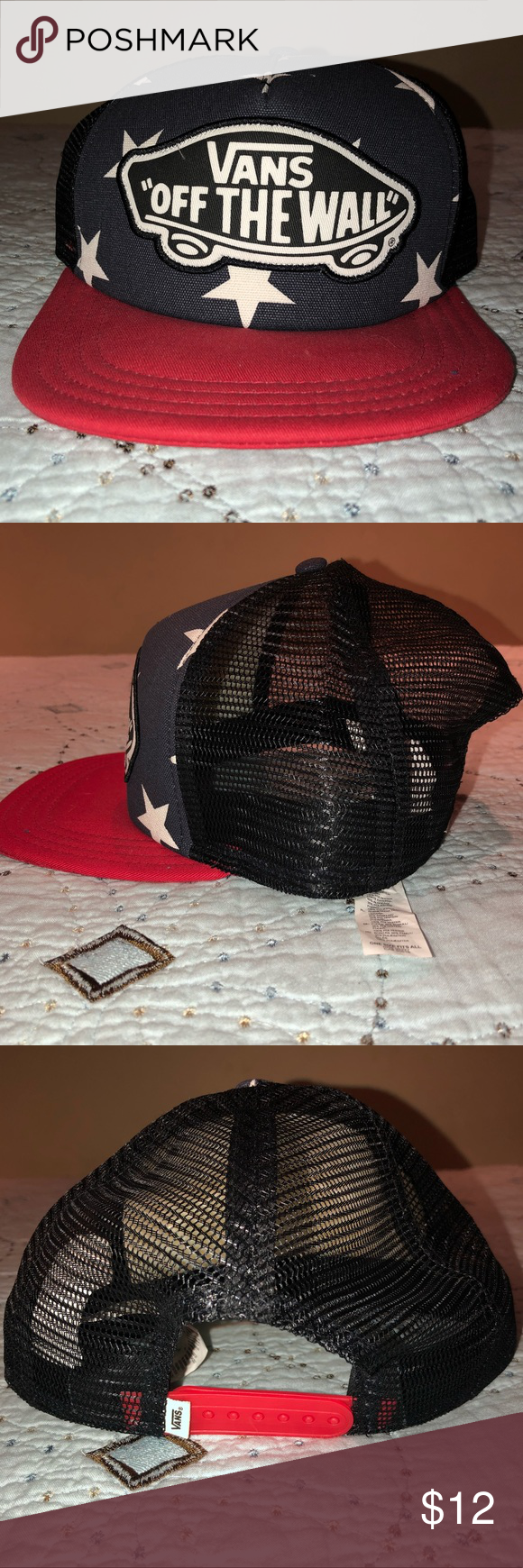 1e238ba550 -Pristine Condition (worn once) -Make an offer  Bundle two or more items  and save 15%! Vans Accessories Hats. Vans American Flag SnapBack ...