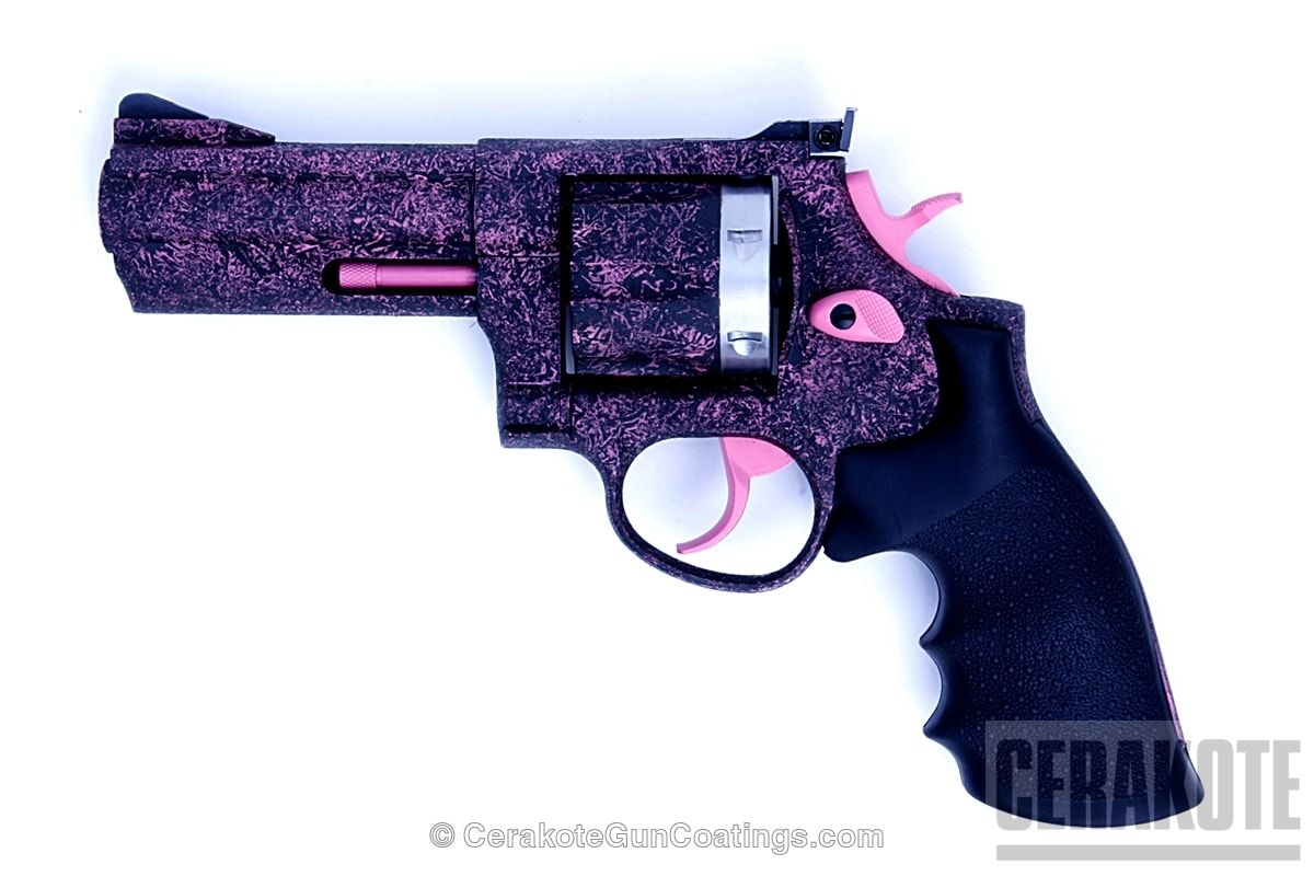 Cerakoted h190 armor black with h141 prison pink with