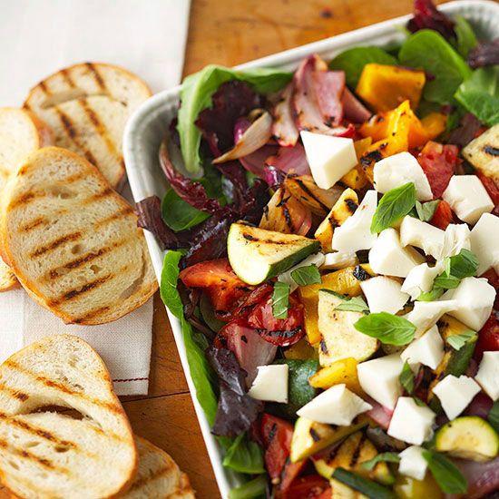 Grilled Vegetable and Mozzarella Ensalada