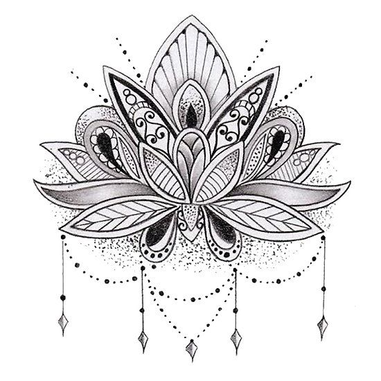 Mandala Lotus Flower Doodles