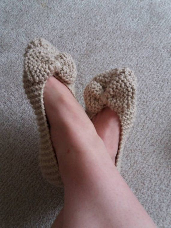 d605a3746c2fe Knit Slippers Pattern, PDF Slippers, Indoor Shoes Pattern, House ...