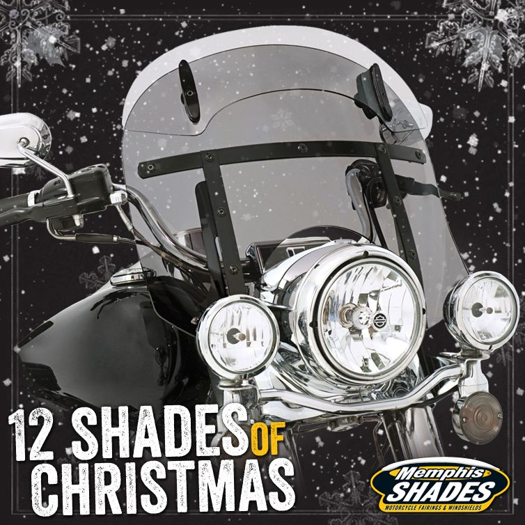 13 16 Drop Top Memphis Fats Night Shades Black Smoke On Hd Road King Never Look Through A Windshield Again Black Smoke Christmas Shades Memphis