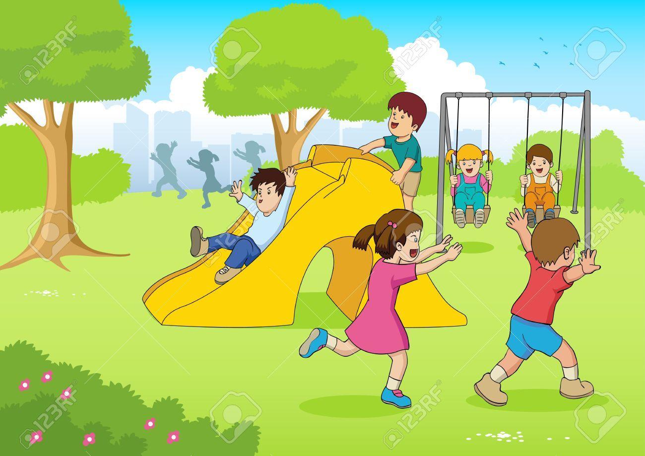 Resultado De Imagen Para Ninos Animados Parque Cartoon Illustration Illustration Free Cartoons