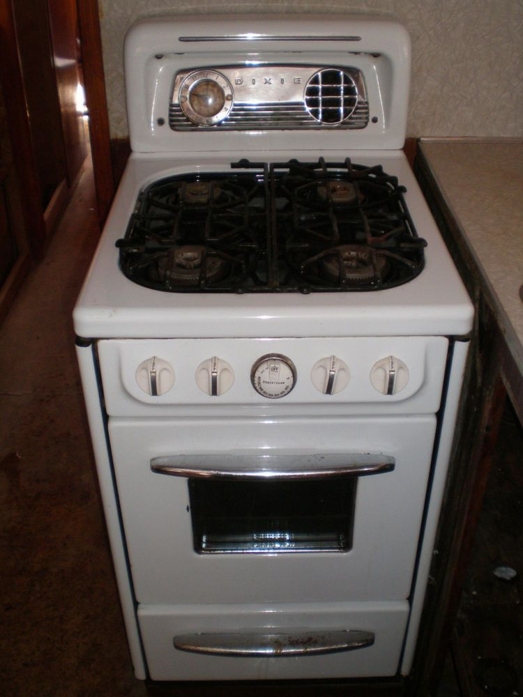 Vintage 1950s Dixie Apartment 20 Stove White Vintage Appliances Retro Kitchen Vintage 1950s