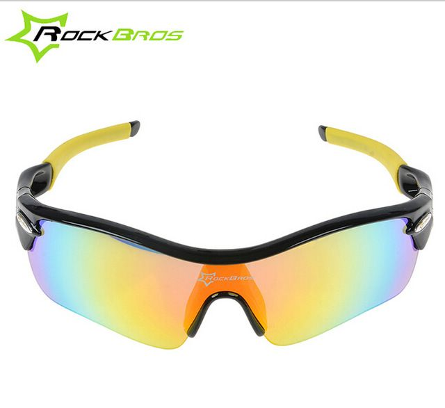 RockBros Polarized Cycling Outdoor Goggles Sport Glasses Running Sunglasses TR90 Goggles Eyewear 5 Lens