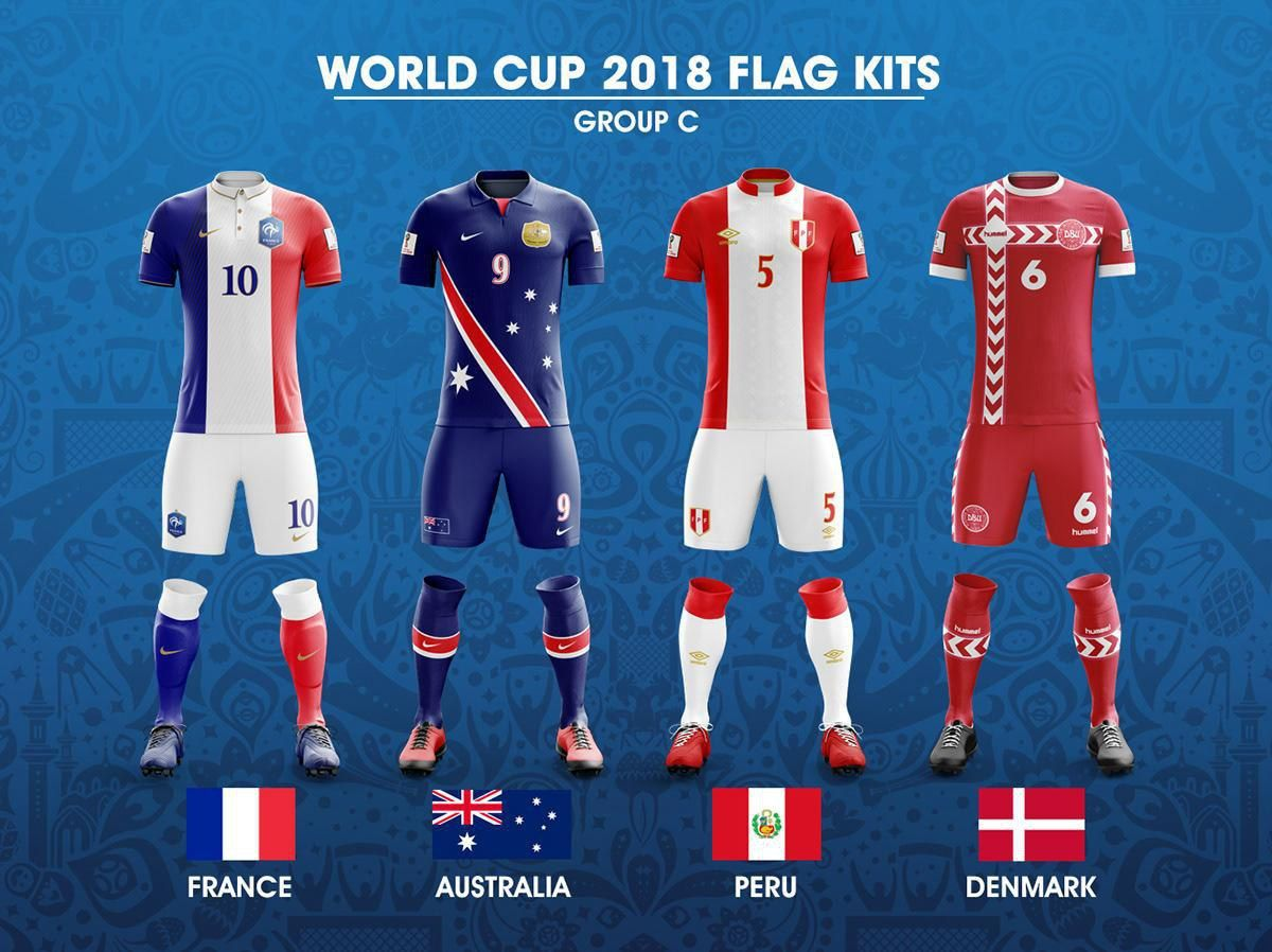 2018 Fifa World Cup Russia Group C Concept Of Forms Based On National Flags Kit Worldcup2018 Worldcup Wc2018 Wcrussia World Cup Football World Cup Kits