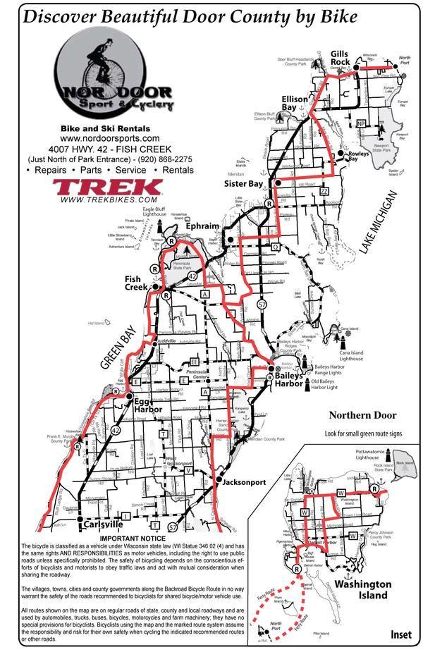 Door County Vacations By Bike Door County Door County Vacation Ski Rental