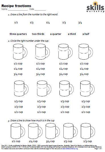 Number Names Worksheets kitchen measurement worksheets : Kitchen Measurement Worksheets - Bloggakuten
