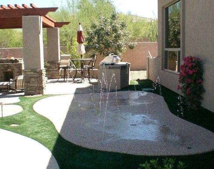Splash pad kit casas pinterest jardiner a terrazas for Ideas para el patio trasero