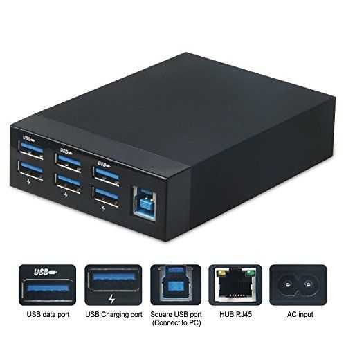 amazon lightning deal 88 claimed hapurs 6 port usb 3 0 hub data