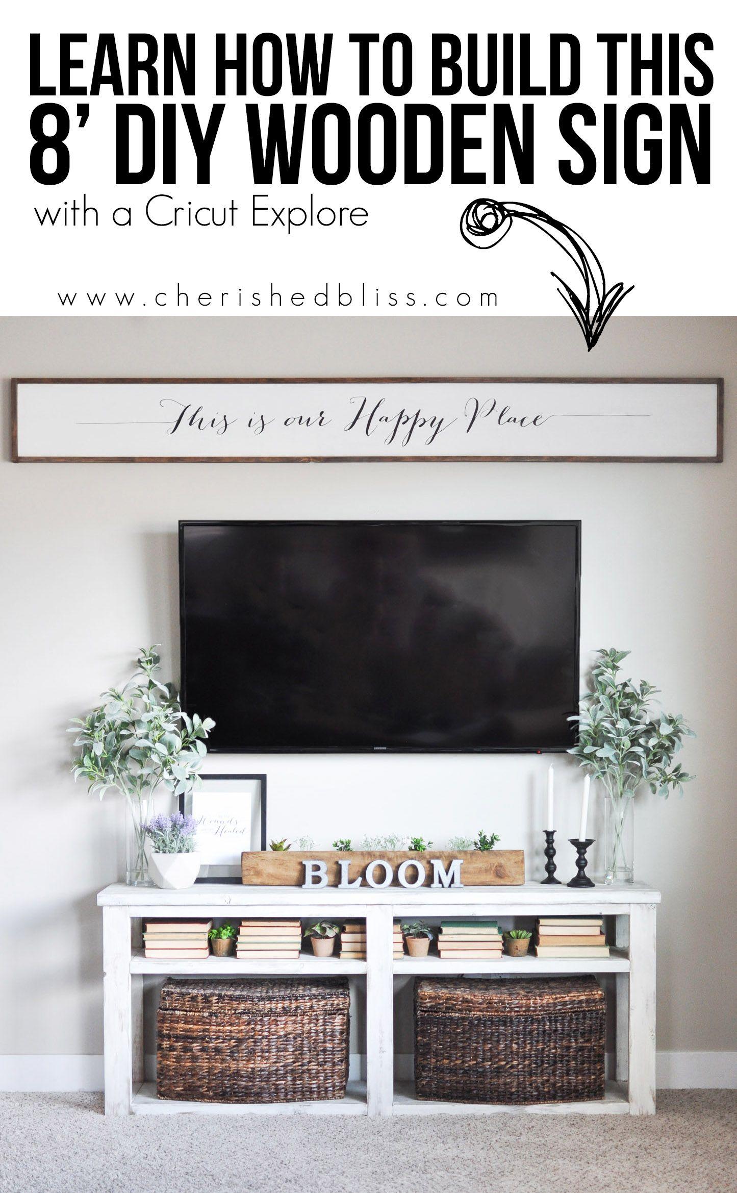 Diy Home Design: DIY Large Wooden Sign Using Cricut Explore Air