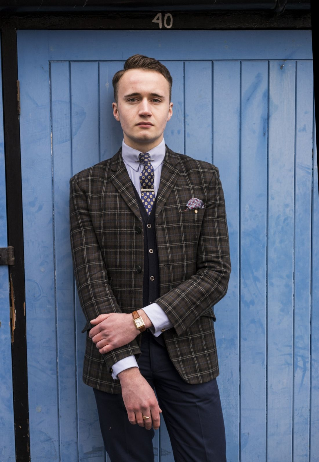 Barney mccann subculture stylish double breasted suit