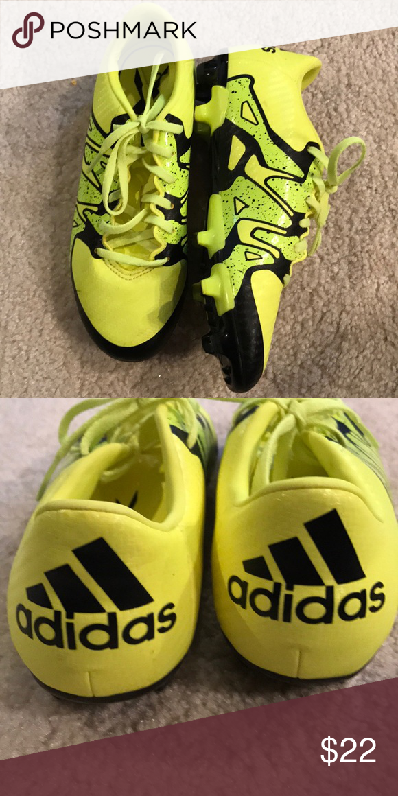 Boys yellow adidas soccer cleats size 3