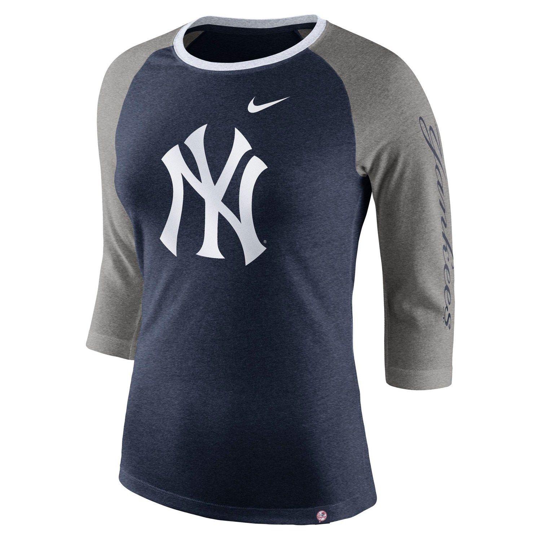 new product 272ba 9b273 Women s Nike New York Yankees Triblend Tee