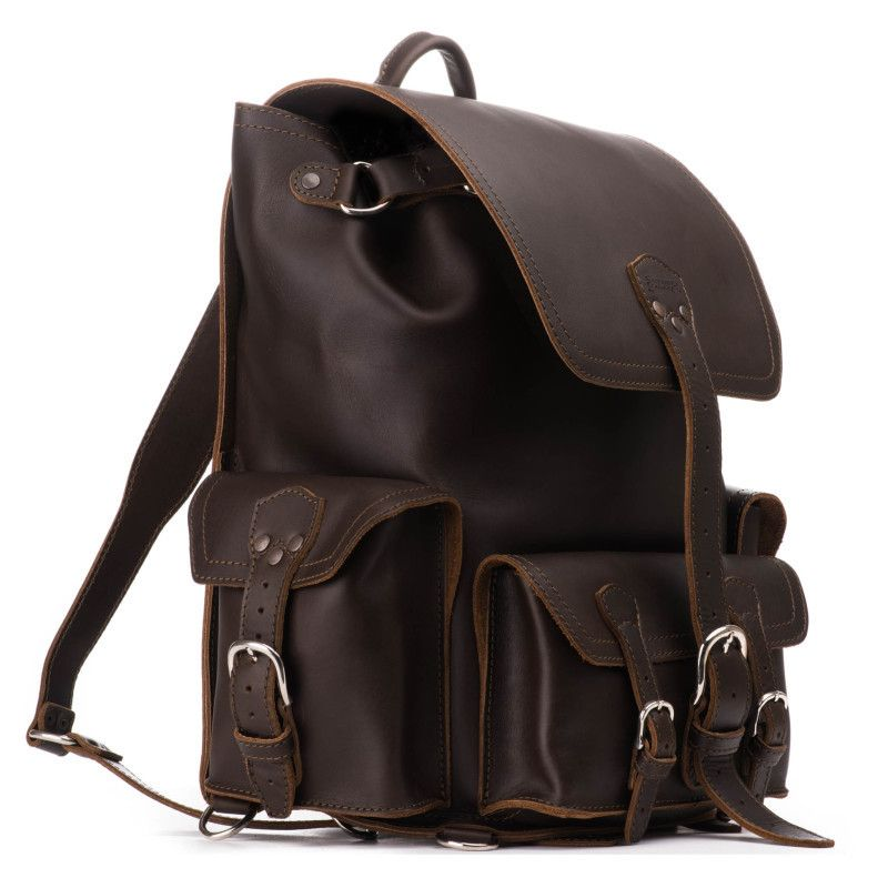 e565f1f97563 Front Pocket Leather Backpack | Gentlemen Accessories