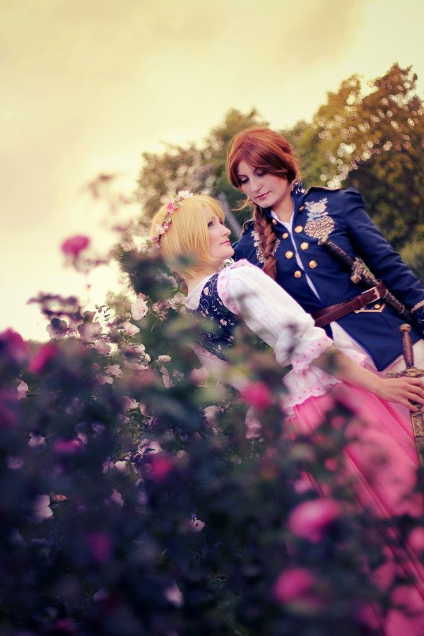 Hetalia - Roses And Thorns by aco-rea.deviantart.com on @DeviantArt - Nyotalia versions of Poland and Lithuania, uploaded by the former