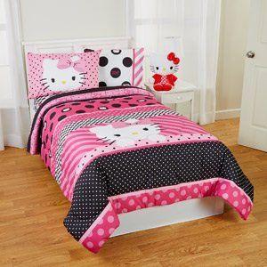 Charmant Hello Kitty Dots Beautiful Twin/Full Reversible Bedding Comforter
