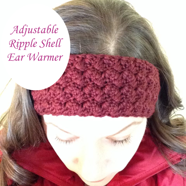 Free Pattern Adjustable Ripple Shell Ear Warmers Crochet