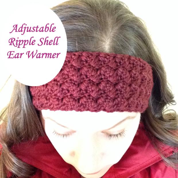 free pattern ~ adjustable ripple shell ear warmers | Crochet ...