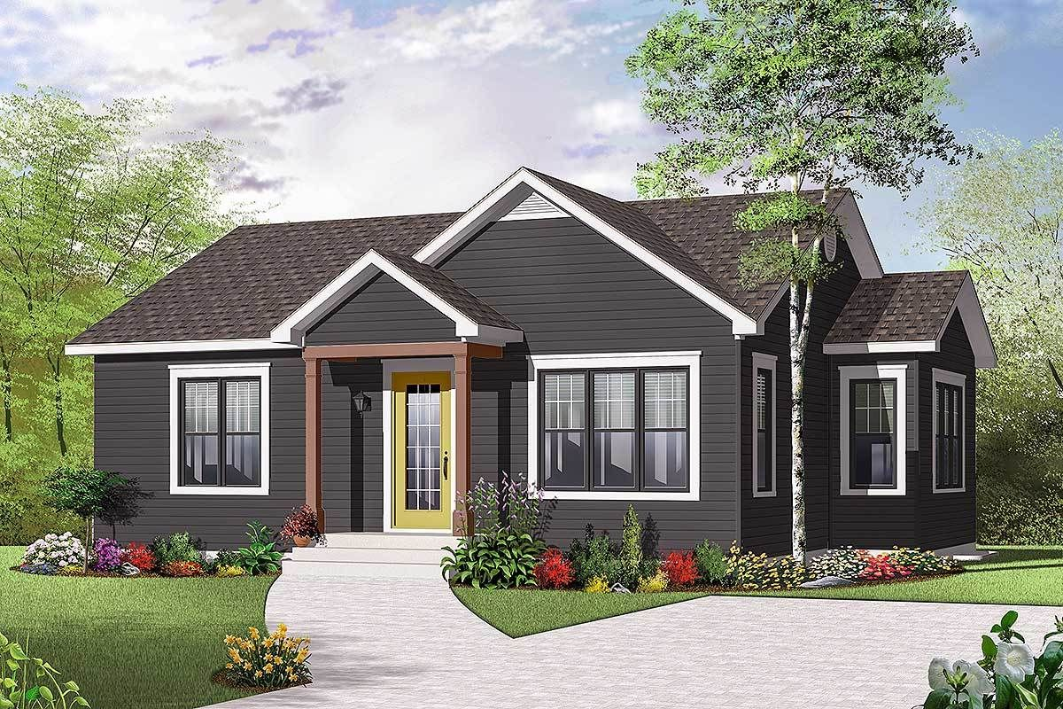 Plan 21714DR A Cottage with Multiple Versions Basement
