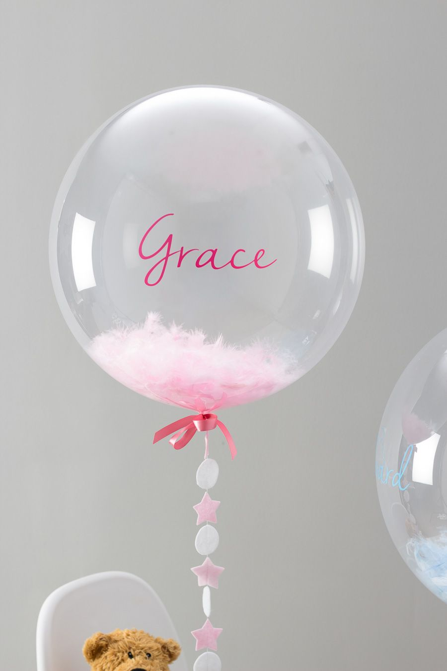 Globos para bautizo pinteres for Baby christening decoration