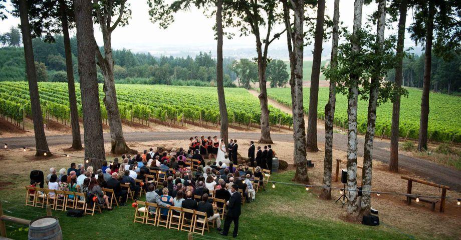 Vista Hills Vineyard in Dayton, Oregon. Wedding venues