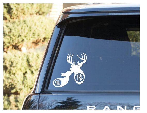 Couples Monogram Decal Buck And Doe Monogram Decal Decals For - Couple custom vinyl decals for car