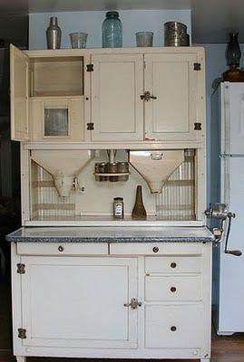Hoosier Cabinet Build Design Into Kitchen Cabinets Work Station