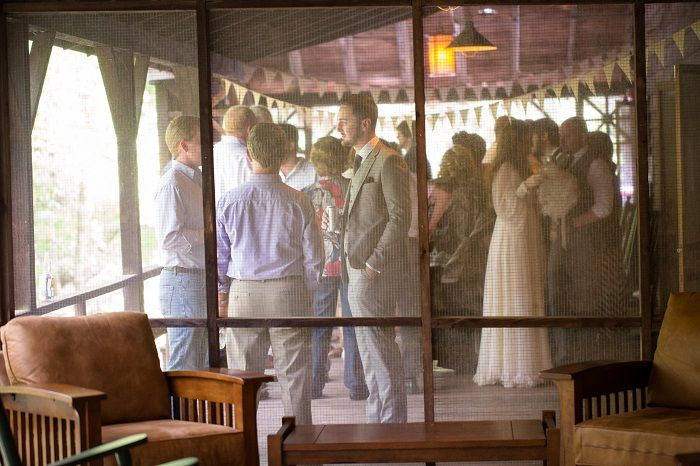 A wedding reception for a mountain wedding in the Great Smoky Mountains National Park | fabmood.com