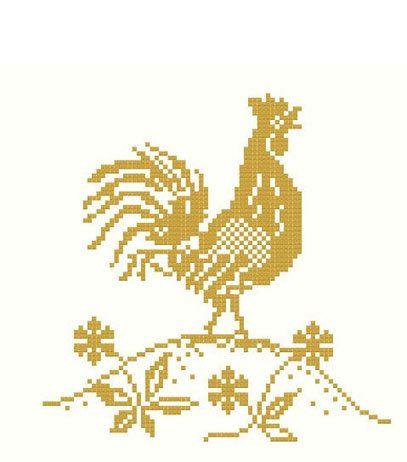 Golden Rooster Cross Stitch Pattern PDF. $5.00, via Etsy.