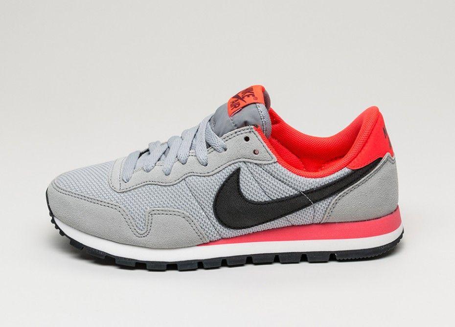 Nike wmns Air Pegasus 83 (Wolf Grey / Black - Bright Crimson - Deep Green