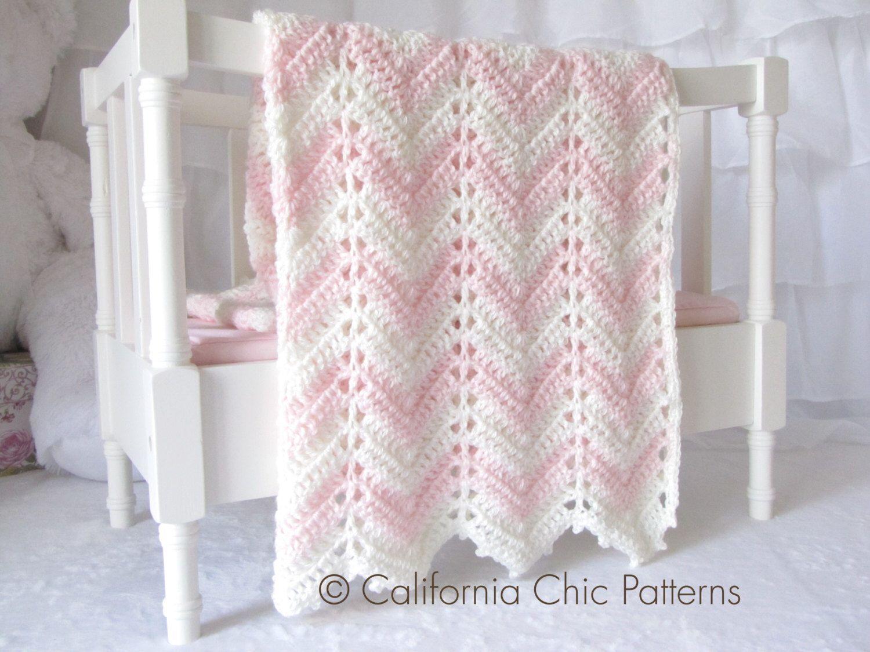 Crochet Baby Blanket PATTERN 55 - Chevron Series - Easy Crochet ...