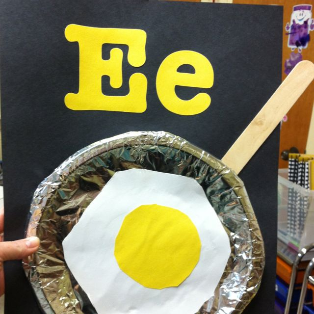 Quot E Quot Is For Enormous Egg Preschool Craftiness Letter A