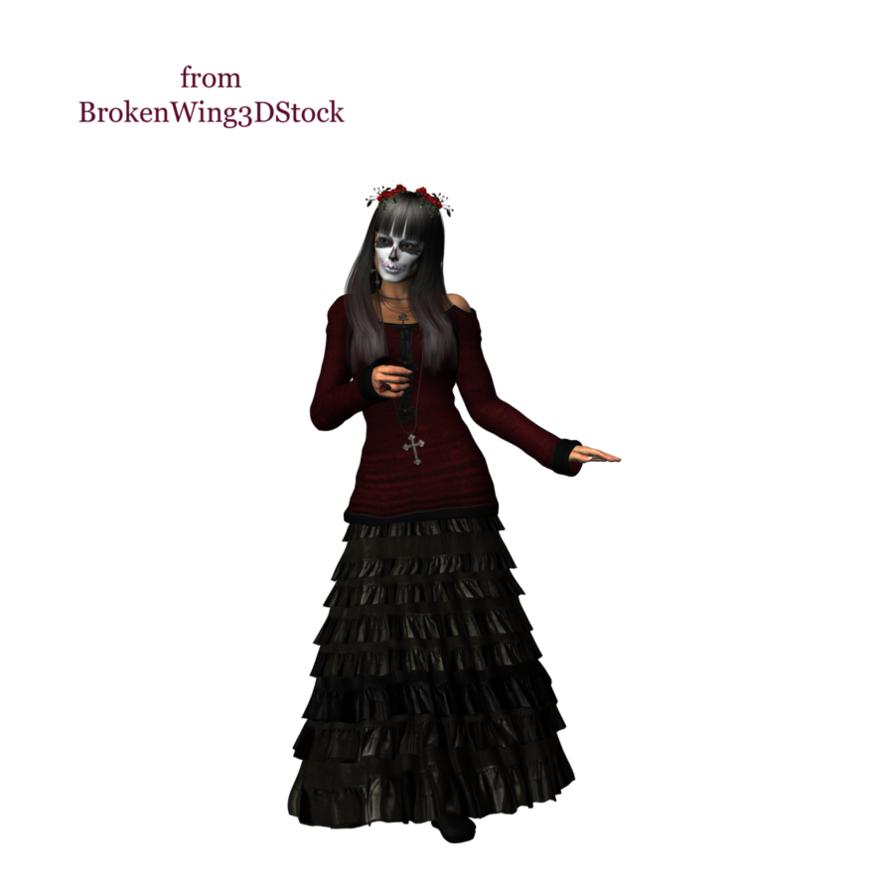 Gothic Female by BrokenWing3dStock