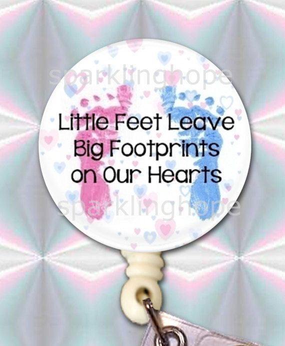 ID Badge Reel NICU Baby Feet Name Tag ID Badge by sparklinghope ... 4a3103e5ed