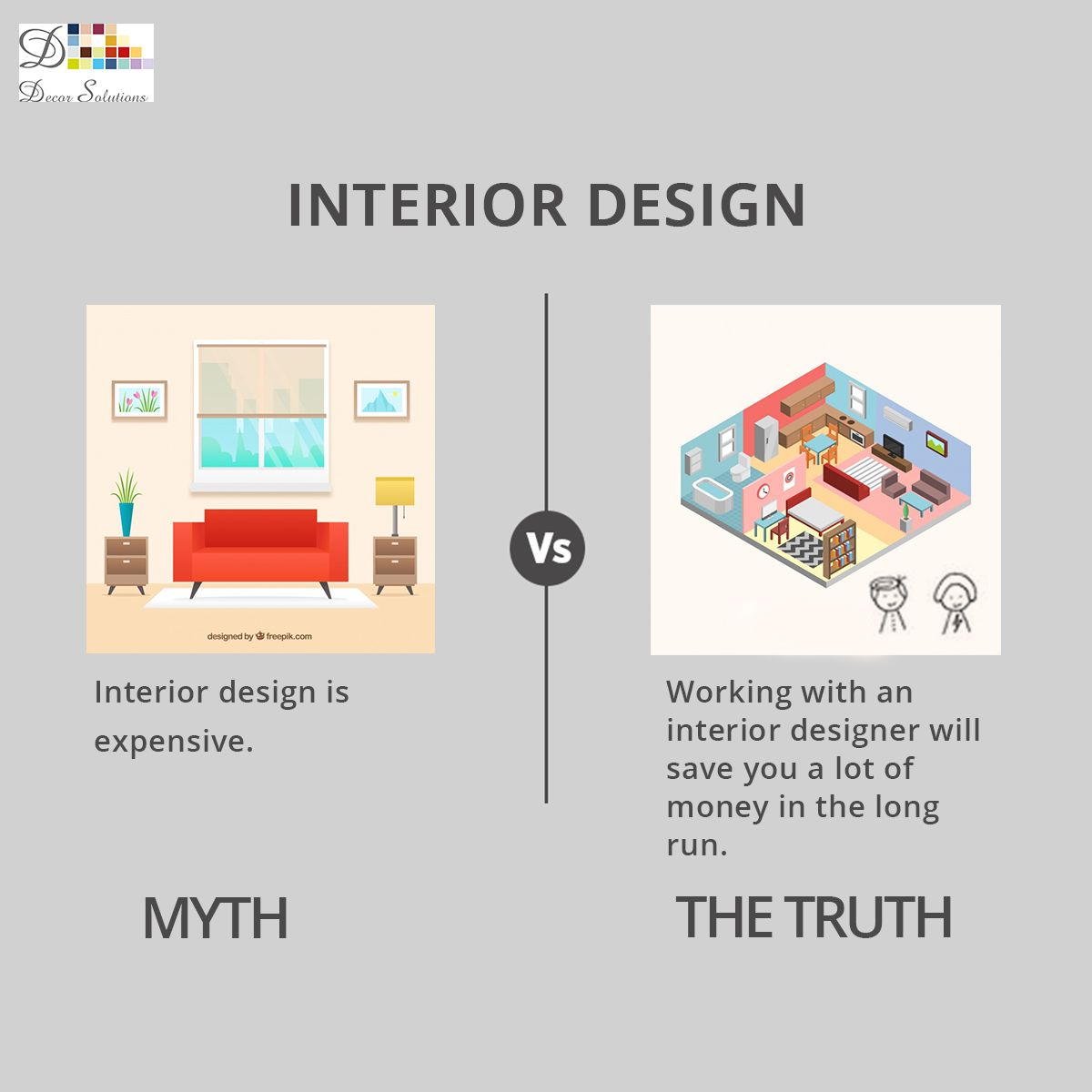 Myth About the Interior Designing DecorSolutions