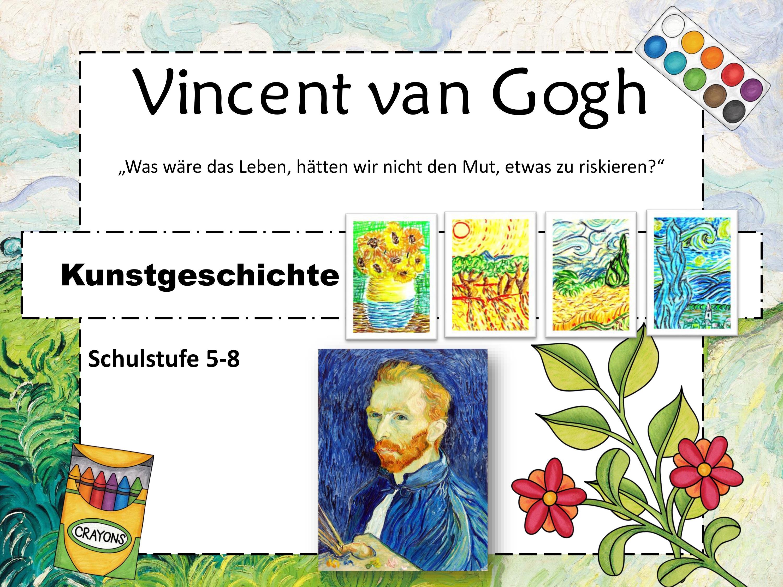 Malen Wie Vincent Van Gogh Unterrichtsmaterial Im Fach Kunst Vincent Van Gogh Van Gogh Kunstunterricht Malen
